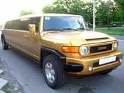 Золотой Лимузин класса Хаммер! Toyota FJ-Cruiser аренда авто на свадьбу,  девичник,  Юбилей,  выпускной.